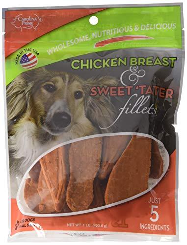 Carolina Prime - Chicken Breast & Sweet Tater Fillets (1lb.) - Naturally Nutricious Dog Treats
