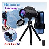AGNN 50x60 80x100 Zoom monoculares Potente telescopio for móviles portátiles Ocular Lens Objetivo Caza Óptica (Color : 80x100)