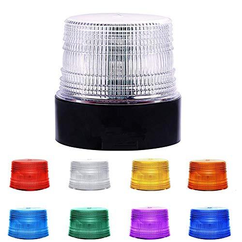 LED Rundumleuchte Kabellose Einstellbar Bunt Blitzlicht Wasserdicht mit Magnet für Auto Träger LKW