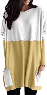 NANTE Top Women's Blouse Casual Long Sleeve Patchwork Pockets O-Neck Loose Cotton Tops Ladies Blouses Plus Size Clothing Costume