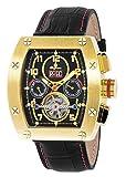 Burgmeister Armbanduhr für Herren mit Analog Anzeige, Automatik-Uhr und Lederarmband - Wasserdichte Herrenuhr mit zeitlosem, schickem Design - klassische Uhr für Männer - BM358-222 Lucan