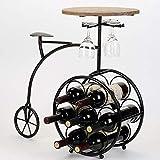 JUNYYANG Forma Europea Roble Alto Pie de Bicicletas Ornamentos Colgantes del Marco del sostenedor de Taza de Vino