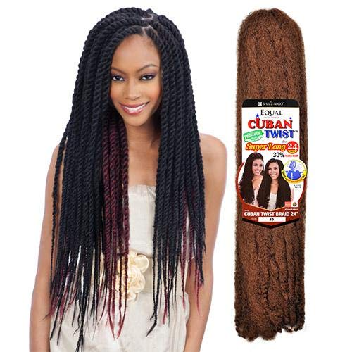 FreeTress Equal Synthetic Hair Braid - CUBAN TWIST 24' (6 PKS, 1)