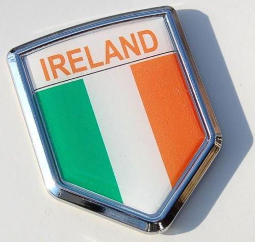 3S MOTORLINE 2X White 4 Shamrock Clover Decal Sticker Irish Ireland Car Vinyl Die Cut Style a