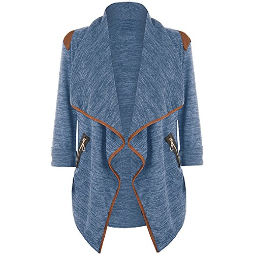 Nation Plus Size Coat Clearance ? Womens Knitted Casual Tops Cardigan Jacket Outwear (2XL, Blue)
