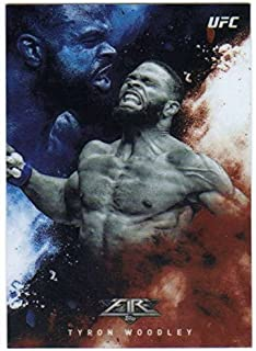 2017 Topps Chrome UFC Fire Fired Up Insert #UF-TW Tyron Woodley