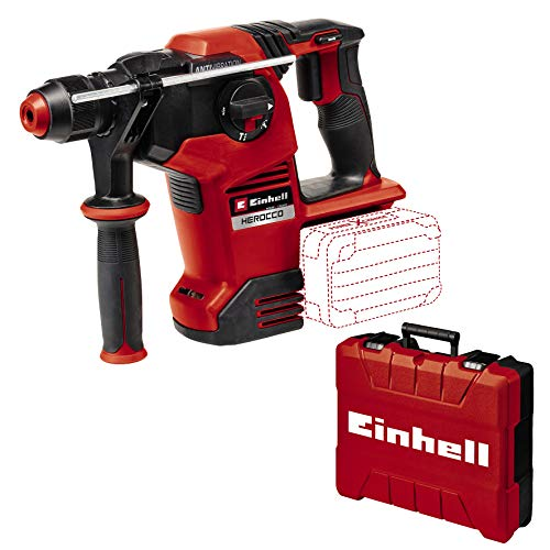 Einhell Martillo perforador con batería HEROCCO 36/28 Power X-Change (Li-Ion, 2x 18 V, Twin-Pack, 3.2 Joule, 29 Nm, motor sin escobillas, portaherramientas SDS+, incl. e-box, sin batería ni cargador)