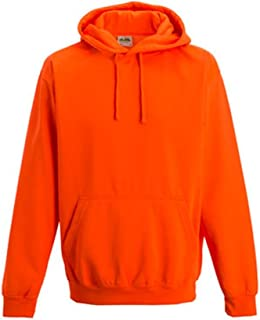 Coole-Fun-T-Shirts Men's Neon Sweatshirt Mit Kapuze Floureszierend