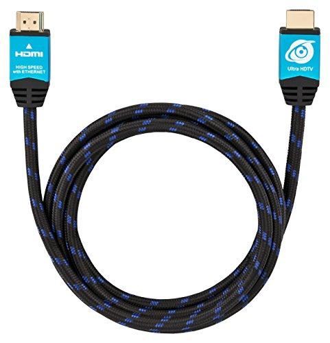Ultra HDTV Premium 4K Highspeed HDMI 2.0b Kabel 2 Meter [HDMI Premium Zertifikat], 4K@60Hz (ruckelfrei), Auflösung bis 2160p 4096x2160, HDMI Kabel mit Knickschutz Nylon Mantel und Alu Gehäuse