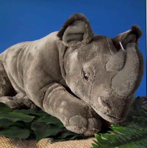 Nashorn liegend 48 cm kuschlig weich