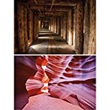 Great Art 2er Set XXL Poster – Bergwerk und Canyon (140 x