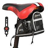 NIGUE Bike Saddle Bag, Medium Bicycle Under seat Storage for Road Mountain Bike Packing Commuter