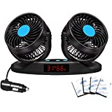 12V Car Fans Cooling Air Fan Powerful Dashboard Electric Car Fan Low Noise 360 Degree Rotatable with 2 Speed Adjustable for Truck Vehicle Boat Brand: EXCOUP