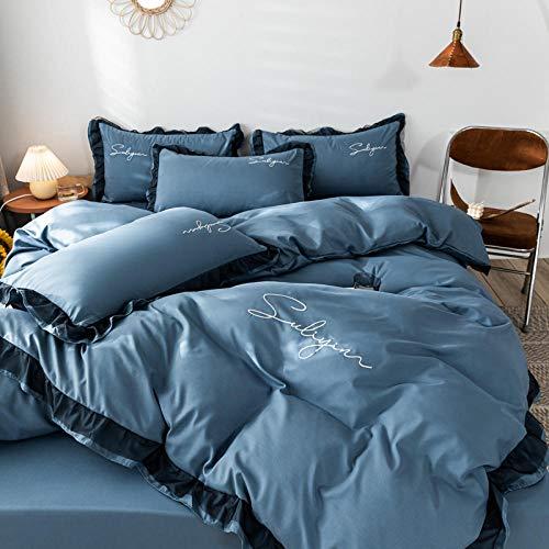 CHOU DAN edredon nordico Cama 150 4 Estaciones,4 Sets de sábanas de lecho engrosadas de Lujo Ligero Simple.-4_Conjuntos de 1.8m A-4
