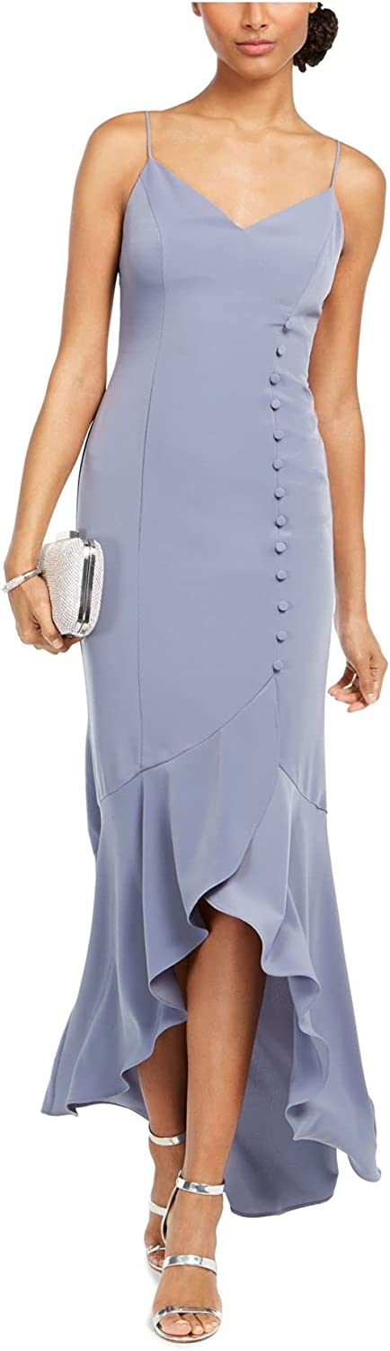 Adrianna Papell Crepe Wrap Dress w/Button Detail