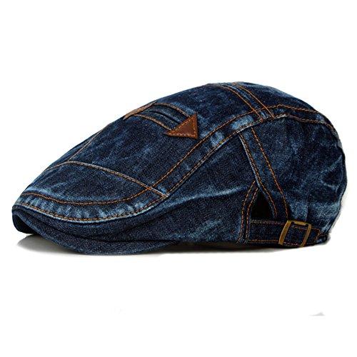 Fablcrew Hommes Chapeau Réglable Béret Casquette Plate Vintage Rétro Homme Chapeau Réglable Chapeau 1Pcs (Bleu Foncé)