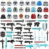LINANNAN 65 Piezas Casco de Ciencia ficción + Armas Personalizadas Set para Soldados Mini Figuras Swat Team Police Compatible con Lego