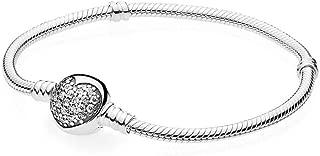 Sparkling Heart Bracelet, Clear CZ 590743CZ