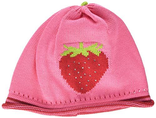 maximo Baby-Mädchen Strickmütze, Erdbeere, Strasssteine Mütze, Mehrfarbig (Pink Rose 64), 47