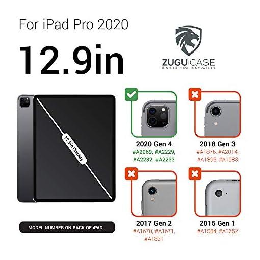 ZUGU Funda para iPad Pro 12.9 2020 4.ª Generación, Alpha Case Protectora Pero Delgada con 10 Ángulos de Visión… 5