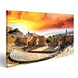 Bild Bilder auf Leinwand Taormina Theater in Sizilien,