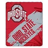 Hall of Fame Memorabilia Ohio State Buckeyes 50x60 Fleece Blanket - College Painted Design