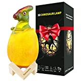 Dinosaur Toys Egg Lamp Lights: 16 Colors Dinosaur Night Light Bedside Lamps Parasaurolophus for Age Above 3 Years Old Children Kids Boys Birthday Xmas, Remote Pat Touch 3 Control Ways