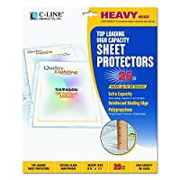 C-Line High Capacity Top Loading Heavyweight Poly Sheet Protectors, Clear, 8.5 x 11 Inches, 25 per Box (62020) [並行輸入品]