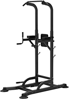 6 in 1 Multi-Station Home Gym Fitness Pull UP Tower Height Adjustable Exercise Equipment,Chin-ups,Dip Station,Push-ups,Pow...
