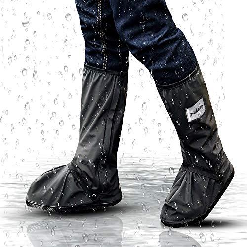 Hospaop Regenüberschuhe Fahrrad Wasserdicht Schuhe Überschuhe Mehrweg Schnee Staub Schutz und rutschfeste Schuhüberzieher für Outdoor Camping Radfahren Bergsteigen-Unisex(L)