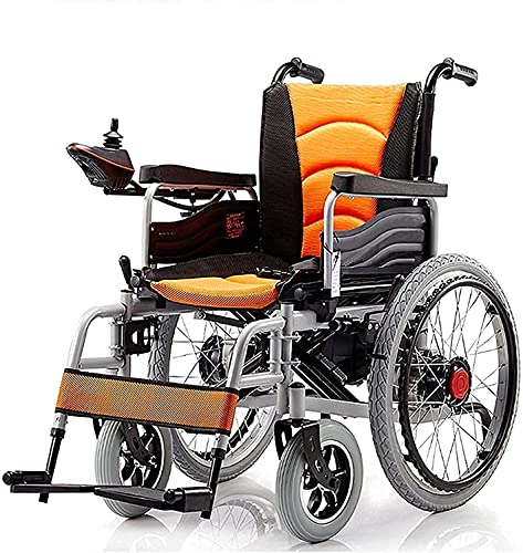 FGVDJ Silla de Ruedas eléctrica Antideslizante Pendiente Plegable Silla de Ruedas eléctrica portátil discapacitados Scooter de Cuatro Ruedas para Ancianos