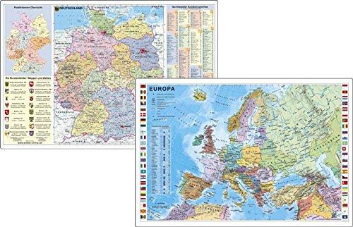Deutschland und Europa fürs Büro - DUO-Schreibunterlage