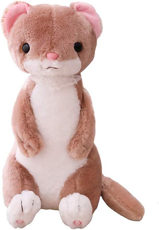 Huhu Ma 20 Cute Cartoon Sitting Position Ferret Pillow Animal Plush Toys Children Pillow Brown