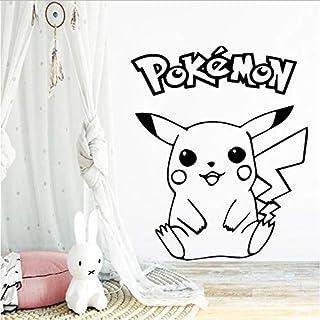Creativo Pokemon Pikachu etiqueta de la pared papel pintado de vinilo para habitación de los niños calcomanía de pared pegatinas decoración bebé calcomanías cartel papel pintado