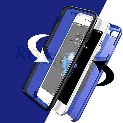 ObaStyle - Carcasa integral para Huawei (360º, parte delantera y trasera transparente táctil), color azul