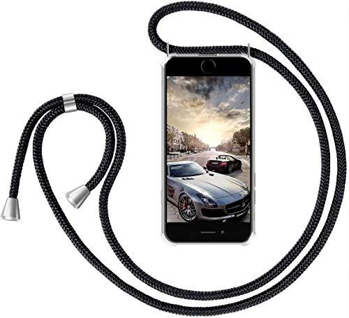 GoodcAcy Handykette Hülle für Xiaomi Redmi 7A Necklace Hülle mit Kordel zum Umhängen Necklace Transparent Silikon [+Panzerglas Schutzfolie]