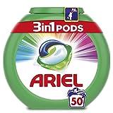 Ariel Pods Allin1 Detergente en Cápsulas para Lavadora, Color & Style, 50 Lavados