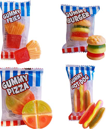 Crazy Candy Factory Fast Food Mini Gummy Sweets Mix (20 meegeleverd)