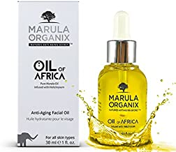Marula Organix Cold Pressed Marula Oil - Infused with Helichrysum Oil - Powerful Antioxidant Serum, Noncomedogenic Facial Moisturizer, Effective Anti Aging Serum and Replacement For Your Anti Aging Cream. Natural Dark Spot Corrector
