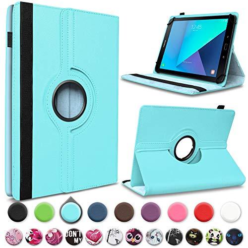 UC-Express Tablet beschermhoes compatibel met Samsung Galaxy Tab E 9.6 Hoes Tas kunstleer standfunctie 360° Rotating Universal Cover Case