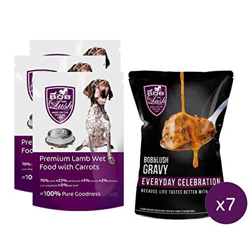 Bob & Lush Luscious 70% Lamm nass Super schmackhaft mit 100% frischem Fleisch für anspruchsvolle Hunde