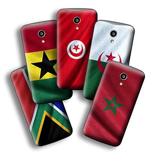 atFolix Designfolie kompatibel mit Motorola Moto G 2. Generation 2014, wähle Dein Lieblings-Design aus, Skin Aufkleber (Flaggen aus Afrika)