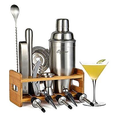 Bartender Kit Cocktail Shaker Set- 14 Pcs Cocktail Making Set, Professional Home Bartending Kit, Bar Sets with Strainer, Jigger, Cocktail Shaker with Stand, Stainless Steel Cocktail Shaker Bar Set