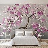 Hhkkckカスタム任意のサイズの壁画壁紙現代3Dステレオ紫花壁画クリエイティブ抽象アート壁紙リビングルーム3 D-160X120Cm