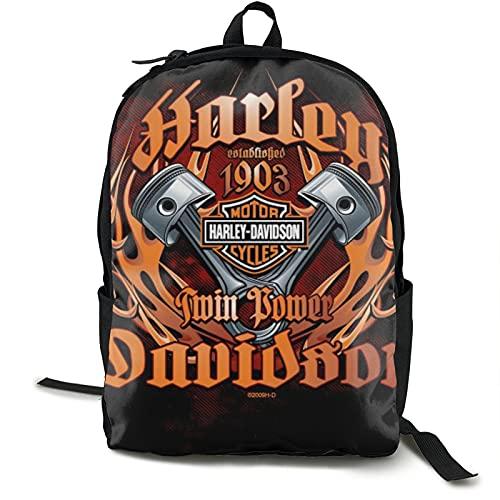 Harley Davidson Designs Retro Classic Style Mbackpack Mochila de hombro sólido para mujeres y niñas