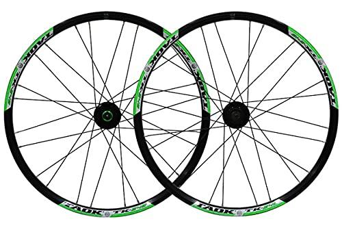 MZPWJD MTB Juego Ruedas Bicicleta 24 Pulgadas Llanta Doble Capa Freno Disco/Llanta Rueda Bicicleta 7-9 Velocidades 24H (Color : Black-A, Size : 24inch)