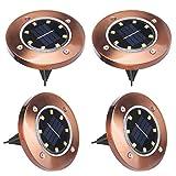 Solar Outdoor Lights Jardin 8 LEDs, ALED LIGHT 4 Pcs IP65 Waterproof LED
