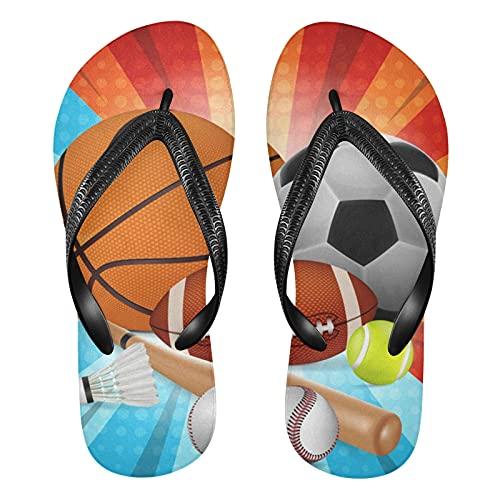 Linomo Sandalias de baloncesto para hombre, de fútbol, rugby, bádminton, de béisbol, delgadas, para verano, playa, para mujer, color, talla 42/46 EU