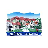 3D-Kühlschrankmagnet, Motiv: Piestany, Slowakei, Zentraleuropa, Reiseaufkleber, Souvenir, Heim- & Küchendekoration, Slowakei Kühlschrankmagnet