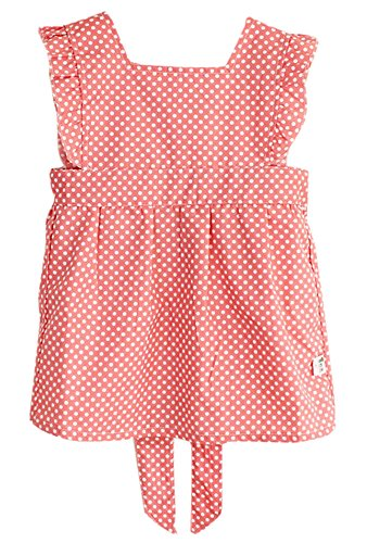 Pintura de los niños lindos ropa impermeable Smock puntos rojos